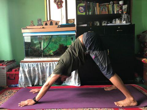 Downward Dog Yoga Pose.