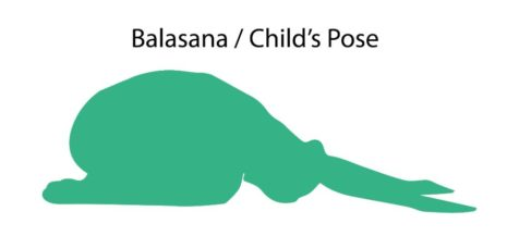 Silhouette of Child's Pose!